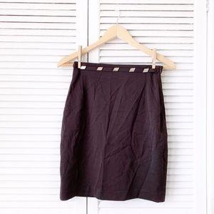 Vertigo Paris Brown Studded Pencil Skirt